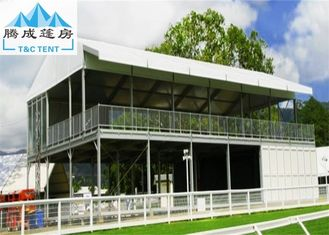 Double Decker Outdoor Exhibition Tent Struktur Kubus Dengan Pintu Kaca