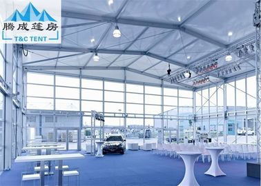 Struktur Aluminium Frame Double Decker Outdoor Party Tent Dengan Kaca Dan ABS Dinding